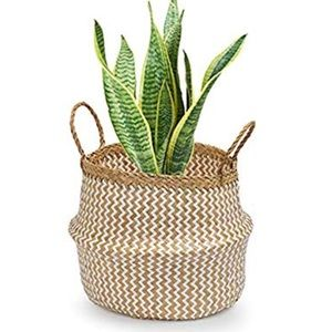 Toma seagrass Round Basket Plant Holder